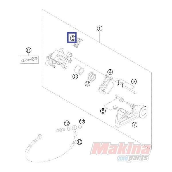 54813018000 Retaining Spring Set KTM EXC-SX '04-'15
