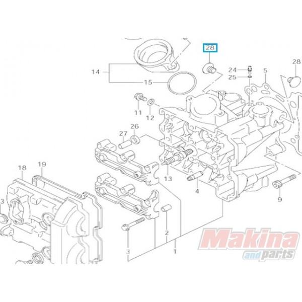 1115127G00 Cylinder Head Cap Suzuki DL-650 V-Strom