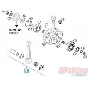 54830015244 Connecting Rod Repair kit KTM EXC-250/300 '03