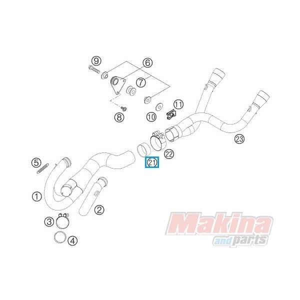 58605005000 Graphit Ring KTM LC-4 640SM SMC-660/690