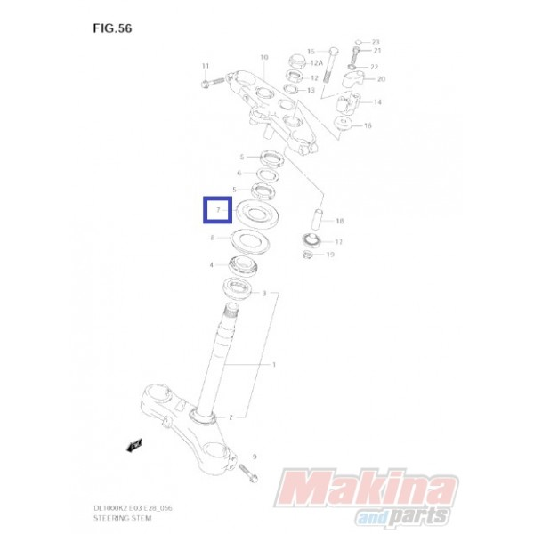 5164333E00 Dust Seal Steering Head Upper Suzuki DL-650 V-Strom