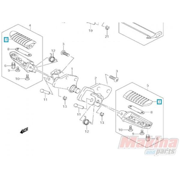 4355106G00 Rubber Footrest Suzuki DL-650/1000 V-Strom