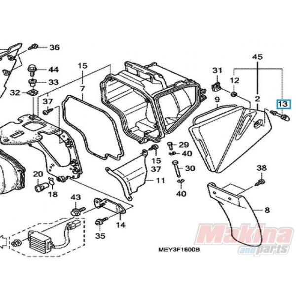 17225KN5670 Stud 6x21 Honda XRV-650 CRF-250X