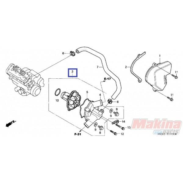 19200MEE325 Water Pump Honda CBR-600RR '03-'06