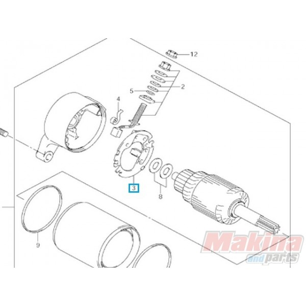 3113233E00 Bruch Holder Set Suzuki DL-650 V-Strom '04-'09