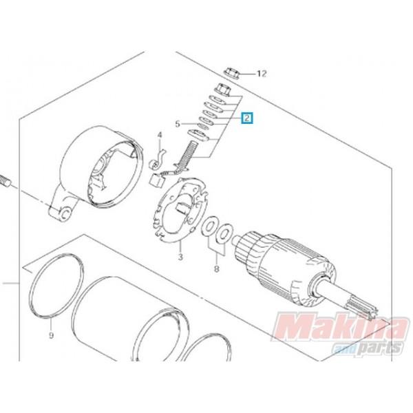 3113013E00 Καρβουνάκι Μίζας Θετικό Suzuki DL-650 V-Strom