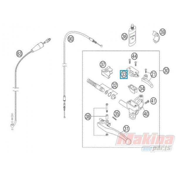 59002033000 Καπάκι Τρόμπας Συμπλέκτη KTM Magura