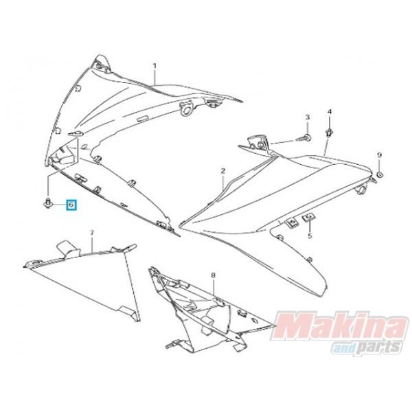 09409083085ES Body Clip Suzuki GSXR-600-750-1000