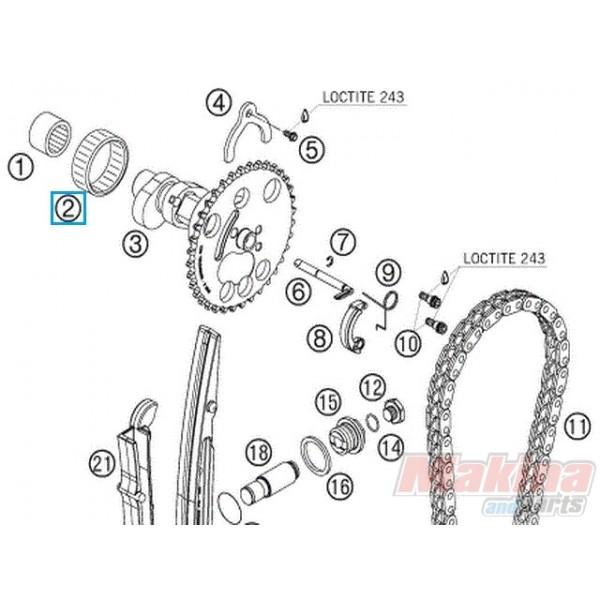 0618404712 Ρουλεμάν Εκκεντροφόρου KTM EXC-400-450-500-530