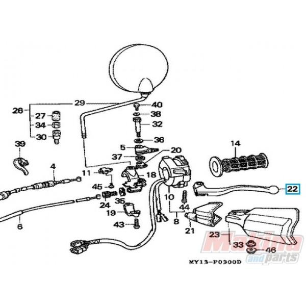 53178MAN600 Clutch Lever Honda XRV-750 XLV-650