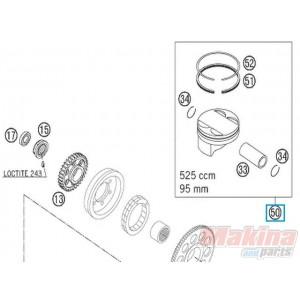 59030007000II Piston Cpl. Forged KTM EXC-SX 520-525 95mm