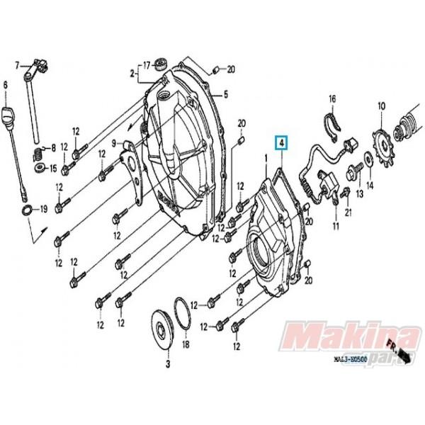 11391MV9670 Φλάντζα Καπάκι Ρότορα Honda CB-600-900 Hornet