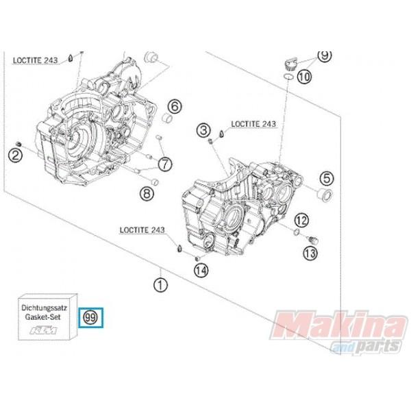 78030099000 Gasket Set KTM EXC-400-450-530