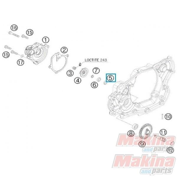 0760102455 Shaft Seal Ring KTM EXC-400-450-530 '08-'11