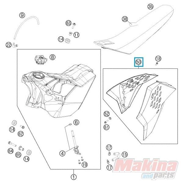 7730805410004F Spoiler Kit Orange KTM EXC SIX-DAY '11