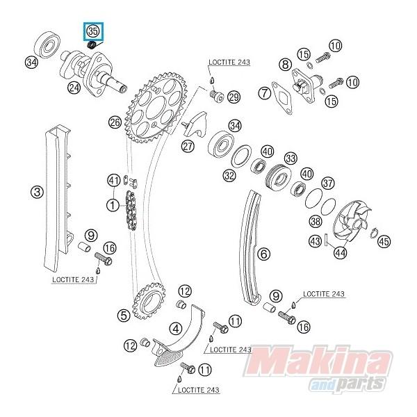 59036017000 Ελατήριο Αποσυμπιεστή KTM EXC '00-'07 SX '00