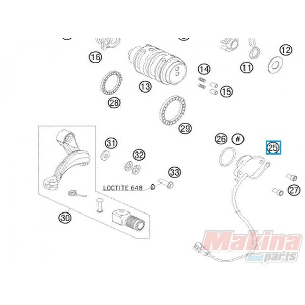 60011023100 Gear Position Sensor KTM Adventure 950-990