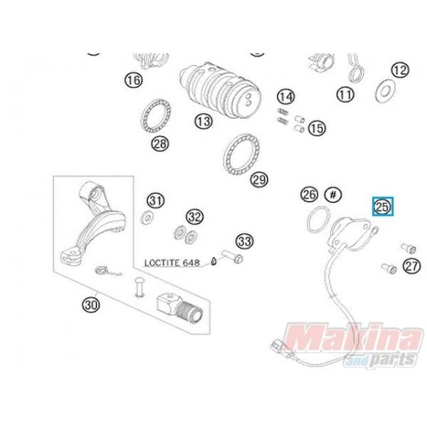 60011023100 Διακόπτης Νεκράς Ταχυτήτων KTM Adventure 950-990