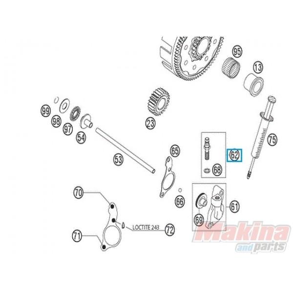 50332062000 Βίδα-Ρακόρ Συμπλέκτη Κάτω KTM LC4-640 LC8-950-990