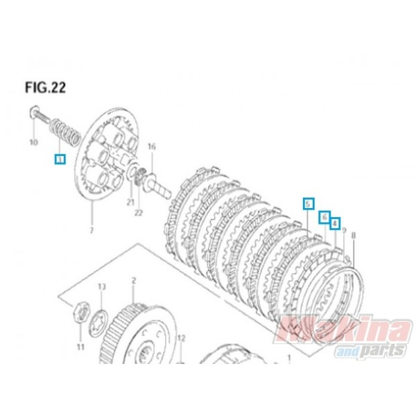 2140029810 Clutch Plate Kit Suzuki DL-650 V-Strom