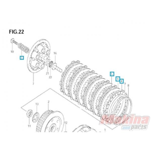 2140029810 Σετ Συμπλέκτη Suzuki DL-650 V-Strom