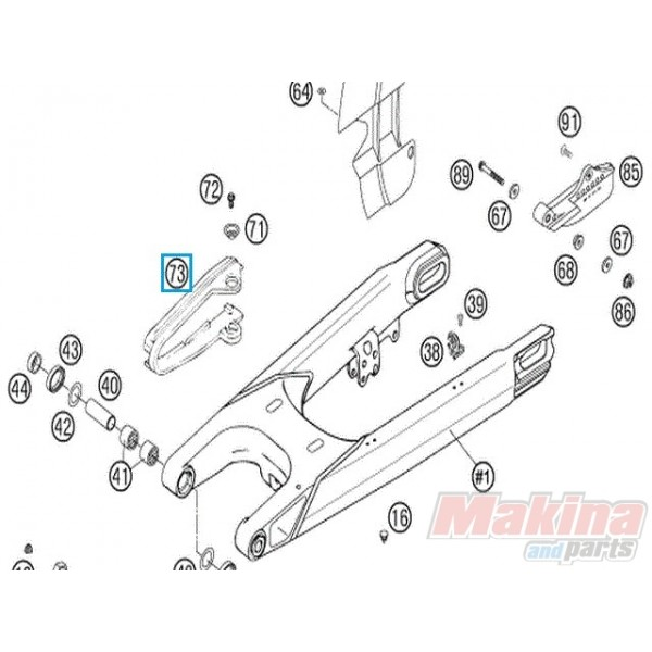 58307073000 Chain Sliding Guard KTM LC4 640