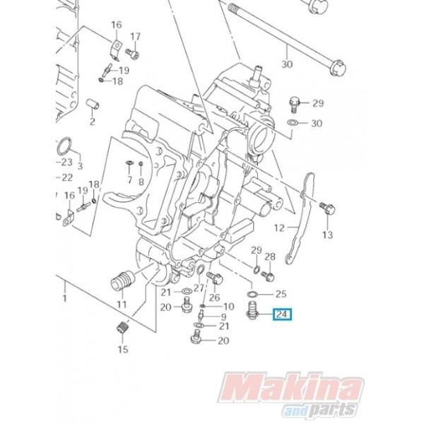 0924712011 Τάπα Εξαγωγής Λαδιού Suzuki DL-650 V-Strom
