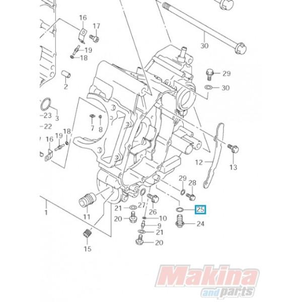 0916812002 Ροδέλα Τάπας Εξαγωγής Λαδιού Suzuki DL-650 V-Strom