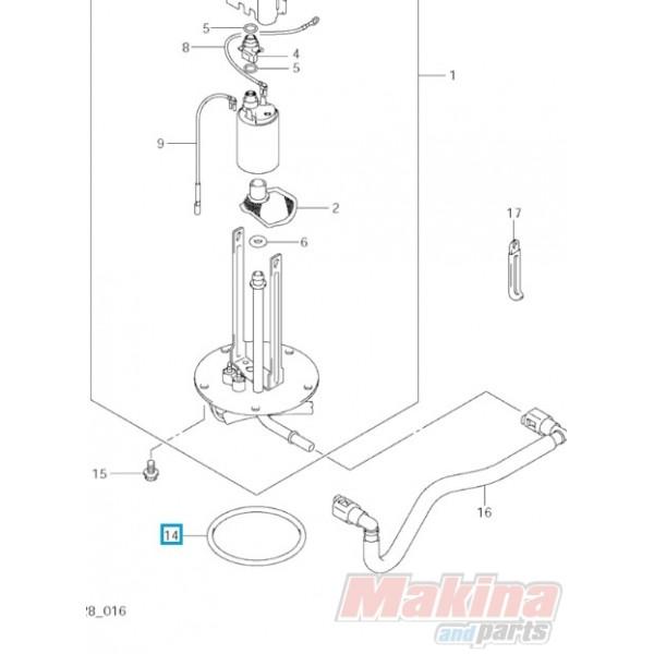 1520135F00 O'-Ring Αντλίας Βενζίνης Suzuki DL-650 V-Strom