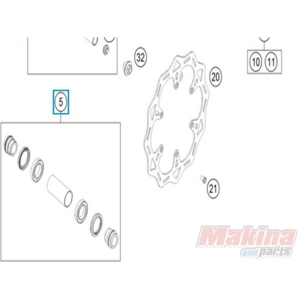 77709015000 KTM Front Wheel Repair Kit EXC '16 SX '15-'16