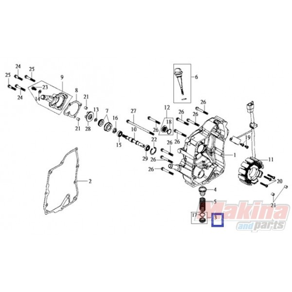 1236AV02000 Oil Drain Plug SYM SYMPHONY-HD-GTS