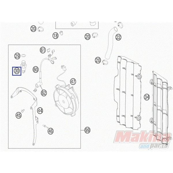 78035045000 Διακόπτης Βαντιλατέρ KTM EXC-450-500-530 '08-'13
