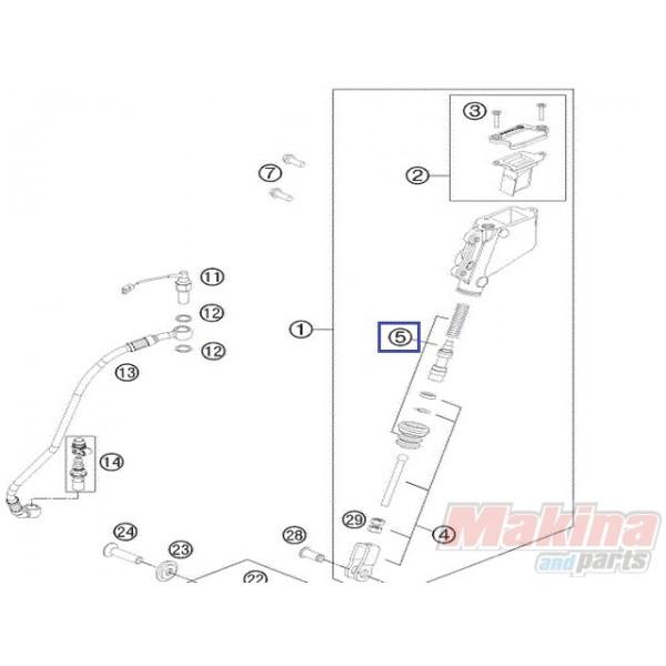 60013061000 Repair Kit Piston Rear Brake KTM Adventure 950-990
