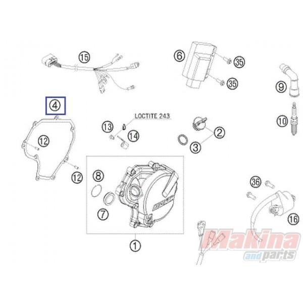 78030040000 Φλάντζα Καπακιού Βολάν KTM EXC-400-450-530 '08-'11