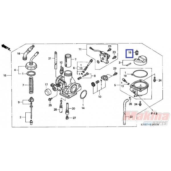 16155883005 Valve float needle Honda ANF-125 Innova '03-'06