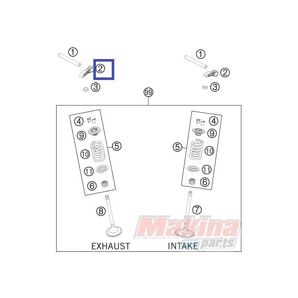 77236060000 Κοκοράκι Βαλβίδας KTM EXC-F 250/350 '12-'16