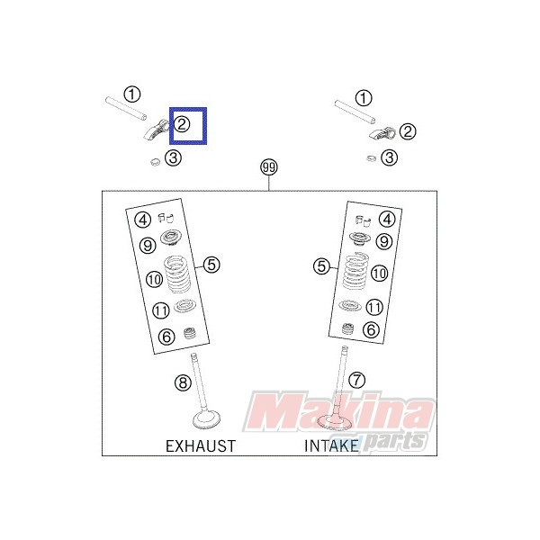 77236060000 Valve Lever KTM KTM EXC-F 250/350 '12-'16 SXF