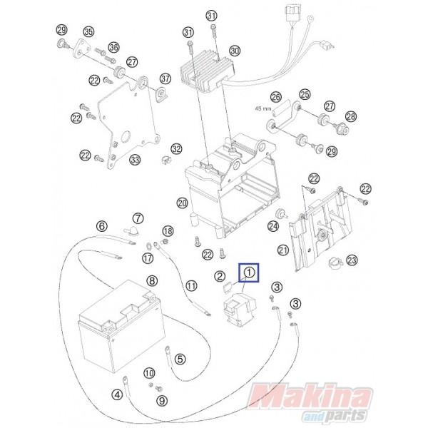 60011058000 Starter Relay KTM Adventure 950-990