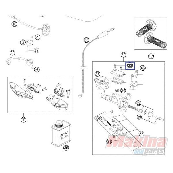 54802003000 Cover Hyd. Clutch Cpl. KTM EXC EXC-F SX SX-F