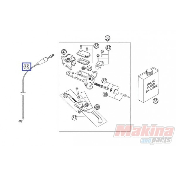 54832063000 Clutch Pipe KTM EXC-SX '06-'16