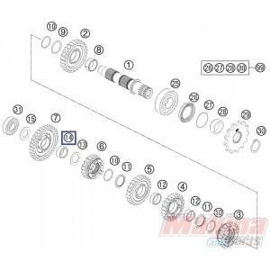 0405202612 Needle Bearing KTM EXC '00-'17 SX '00-'17