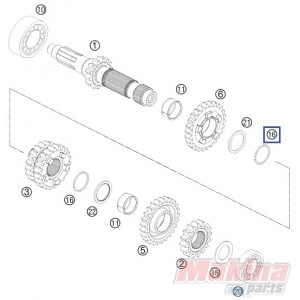 0417025000 Ασφάλεια Αξονα Σασμάν KTM EXC '11-'17 SX '16-'17