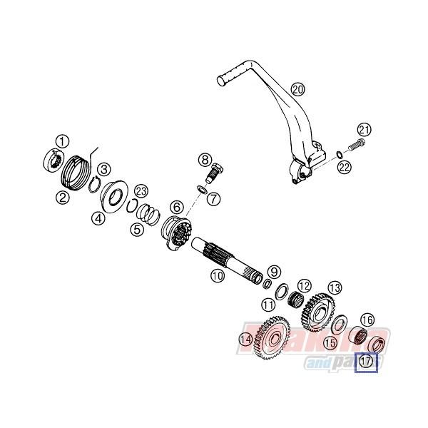 0760223270 Shaft Seal Ring KTM LC4-640 '98-'06