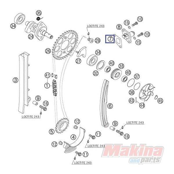 59036003050 Φλάντζα Τεντωτήρα Καδένας Εκκεντ. KTM EXC-400