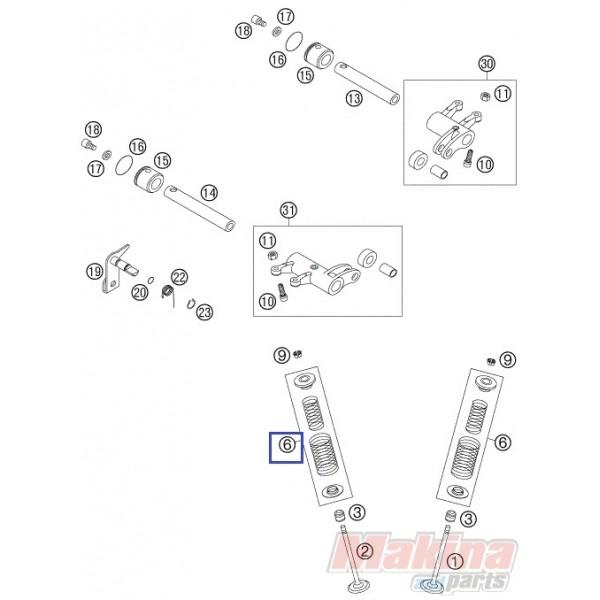 83036028144 Ελατήριο Βαλβίδας Σετ KTM EXC-400-450-520-525