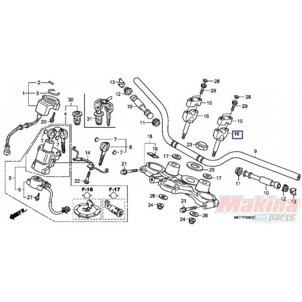 53132KL3670 Handlebar Holder Honda XL-600V-650V-700V Transalp