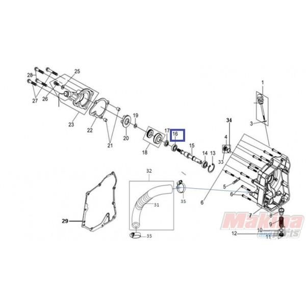 91001KJ9005 Bearing Water Pump SYM Citycom-300i GTS-250
