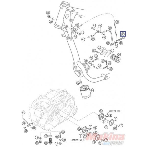 58038033200 Ρακόρ Λαδιού KTM LC4-640