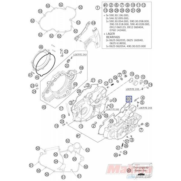 59030039200 Φλάντζα Μεσαία Κάρτερ KTM EXC '00-'07 SX '00