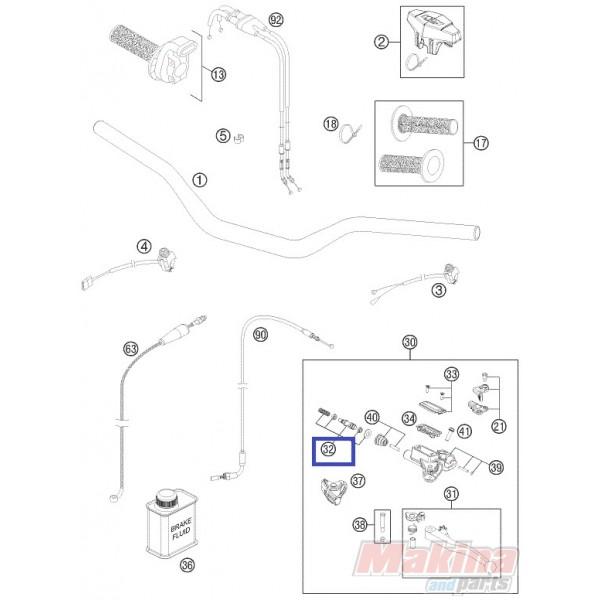 77302032000 Repair Kit Piston 10,5mm KTM SX-F 450 '09-'11
